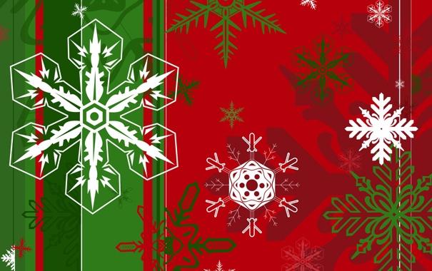 Фото обои Флаг, Рождество, Снежинки, Ёлка