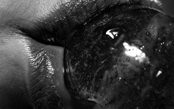 Фото обои губы, конфета