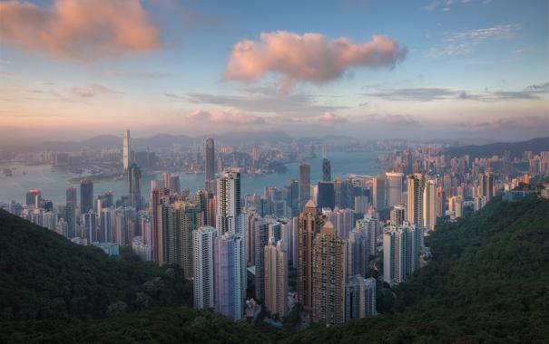 Фото обои Hong Kong, asia, china, Гонконг, sunset, Китай