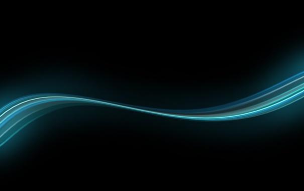 Фото обои чёрный, голубой, Линии