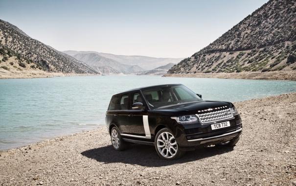 Фото обои берег, Range Rover, Land Rover, машина, красивый, внедорожник