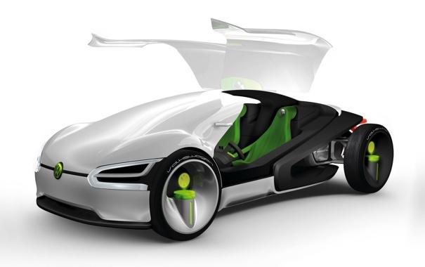Фото обои Volkswagen, das auto, концепт будущего
