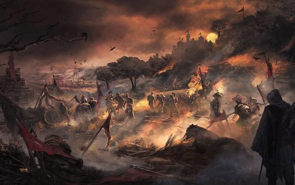 Фото обои война, солдаты, war, art, Assassin's Creed