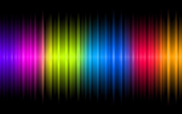 Фото обои colors, black, present, neon, chrome, random, glowing