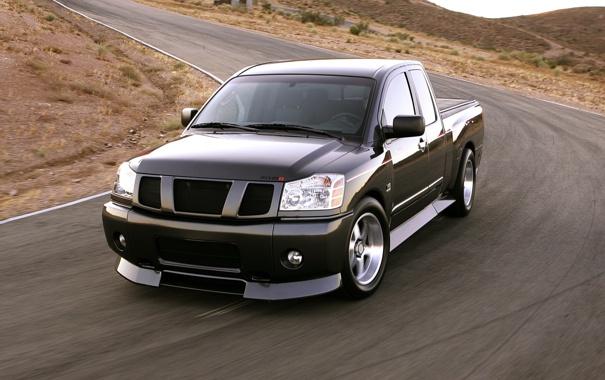 Фото обои чёрный, concept, джип, концепт, Nissan, пикап, ниссан