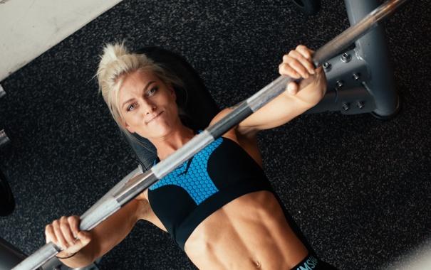 Фото обои blonde, workout, fitness