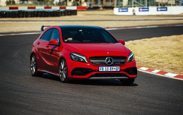 Фото обои W176, амг, A-class, AMG, мерседес, Mercedes-Benz, красный
