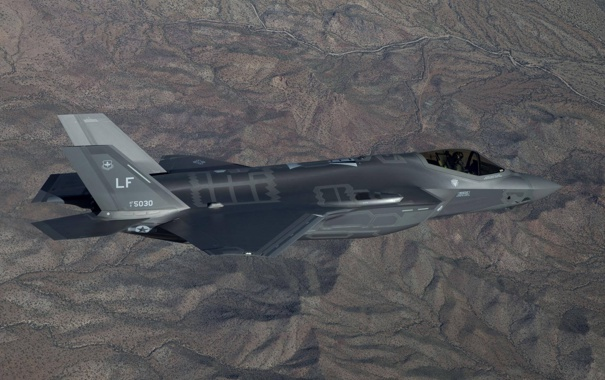 Фото обои истребитель, бомбардировщик, Lightning II, F-35