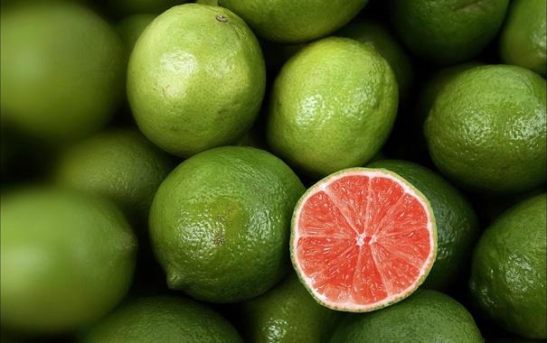 Фото обои кисло, лайм, лимон, много, красный