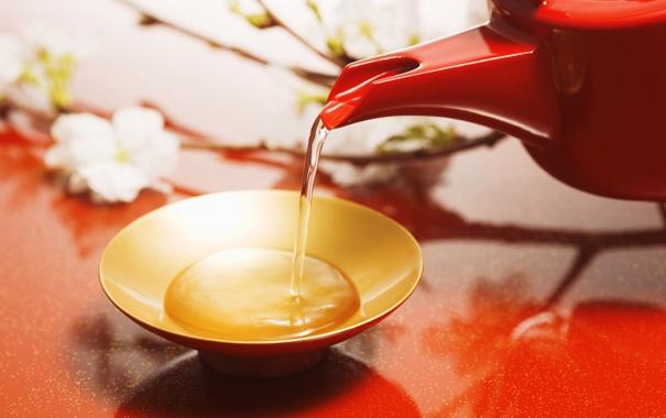 Фото обои цветы, красный, чай, разное
