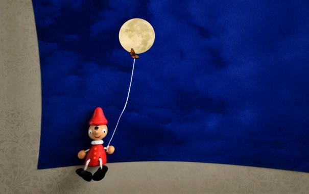 Фото обои фон, Пинокио, игрушка