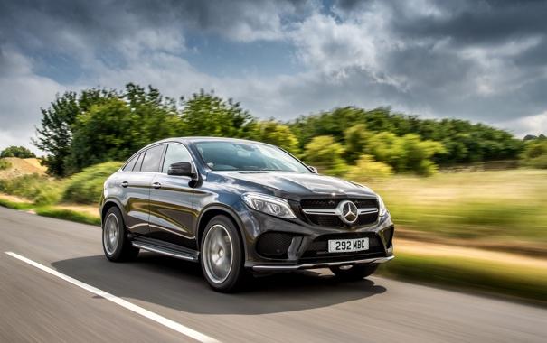 Фото обои Mercedes-Benz, мерседес, AMG, Coupe, UK-spec, 4MATIC, 2015