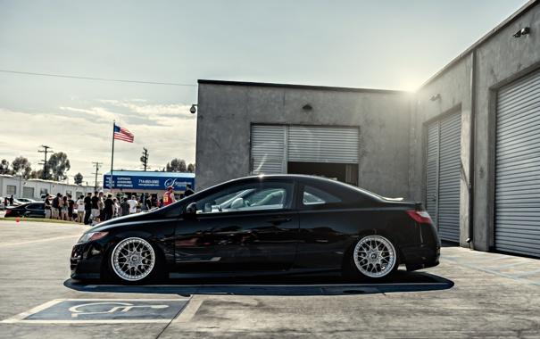 Фото обои профиль, civic, сивик, авто, black, хонда, honda