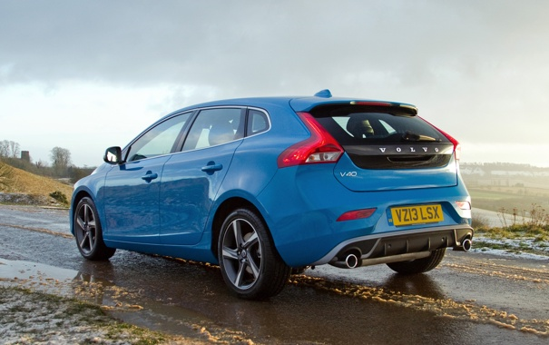 Фото обои авто, скорость, Volvo, вольво, V40, R-Design
