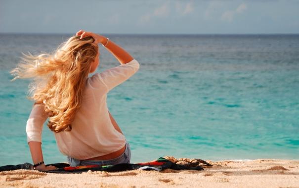 Фото блондинок на пляже со спины, эротика видео русское сиськи