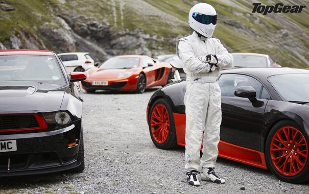 Фото обои McLaren, Jaguar, Mustang, Volkswagen, Bugatti, Boss 302, Veyron