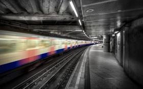 Картинка город, метро, поезд