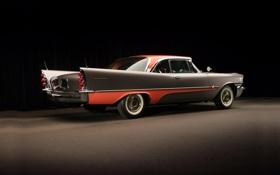 Обои полумрак, классика, вид сзади, 1957, hardtop, красивая машина, 2-door