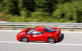 Обои скорость, Ferrari, красная, 458 Italia