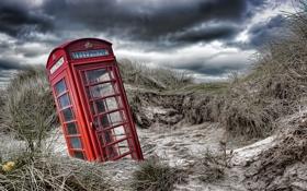 Обои природа, дюны, телефон