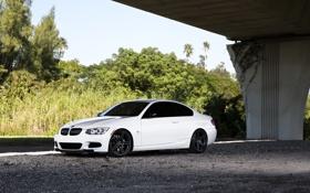 Обои BMW, Белая, БМВ, Диски, White, E92 335i