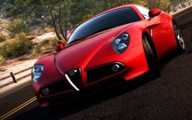 Обои Alfa-, Sportcar, Romeo, Krasni