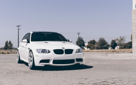 Обои тюнинг, BMW, БМВ, tuning, White, E90, concept one