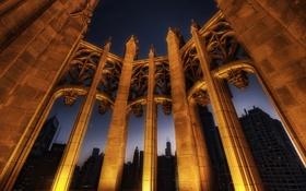 Обои ночь, город, освещение, Чикаго, США, архитектура, Chicago