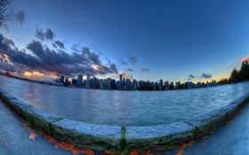 Обои город, Morning, Vancouver