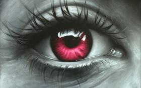 Обои глаз, масло, живопись, холст, art, Jonas Brodin