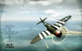 Картинка США, Америка, самолёт, истребитель-бомбардировщик, MMO, War Thunder, Gaijin Entertainment
