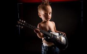 Картинка настроение, гитара, мальчик