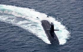 Обои море, лодка, японии, подводная, типа, «Сорю»
