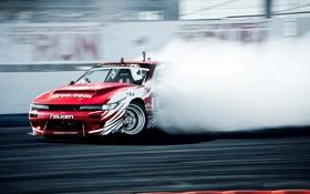Обои соревнования, дым, шоу, дрифт, Silvia, Nissan, ниссан