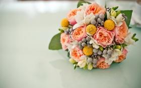 Обои цветы, розы, букет, свадьба, flowers, bouquet, roses