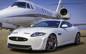 Картинка самолёт, Ягуар, ИксКей, небо, передок, Jaguar, XKR-S