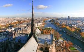Картинка город, Париж, дома, канал