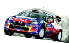 Обои Ралли, Citroen, Sebastien Loeb, Rally, WRC, Daniel Elena, Авто