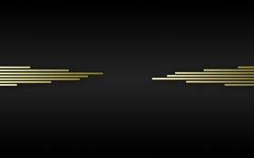 Обои черный, линии, полосы, золото, клетки