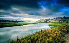 Картинка природа, река, Калифорния, USA, США, California