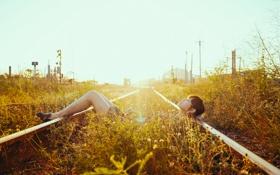 Обои дорога, лето, девушка