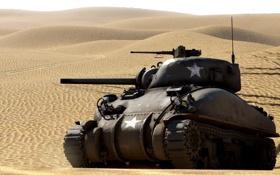 Картинка пустыня, танк, средний, War Thunder, «Шерман», M4 Шерман