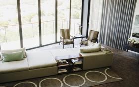 Обои дизайн, вилла, жилая комната, дом, интерьер, стиль