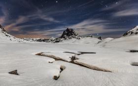 Картинка зима, небо, звезды, снег, природа, гры