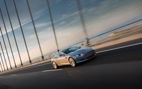 Картинка машина, мост, Aston Martin, Скорость