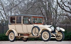 Обои сильвер гост, роллс-ройс, передок, деревья, 1914, лимузин, Silver Ghost