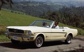 Обои белый, фон, холмы, женщина, Mustang, Ford, Форд