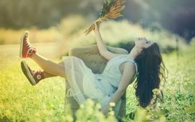 Обои лето, радость, Sunny Day, Marta Segovia, Happy day