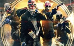 Картинка деньги, бандиты, доллары, грабители, Payday 2