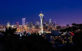 Картинка Сиэтл, USA, США, Seattle, штат Вашингтон, State Washington